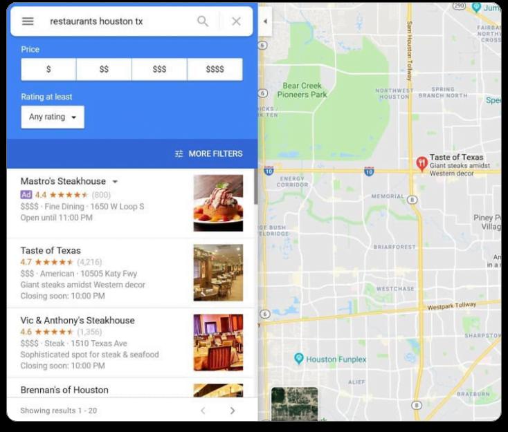 Buzzworthy Search Engine Marketing graphic- Google maps