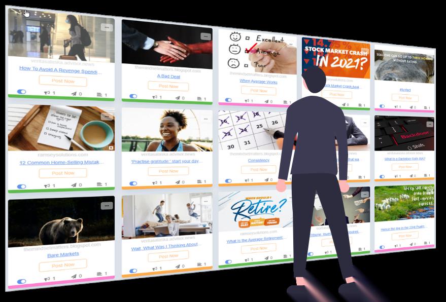 Buzzsocial social media marketing graphic: content library