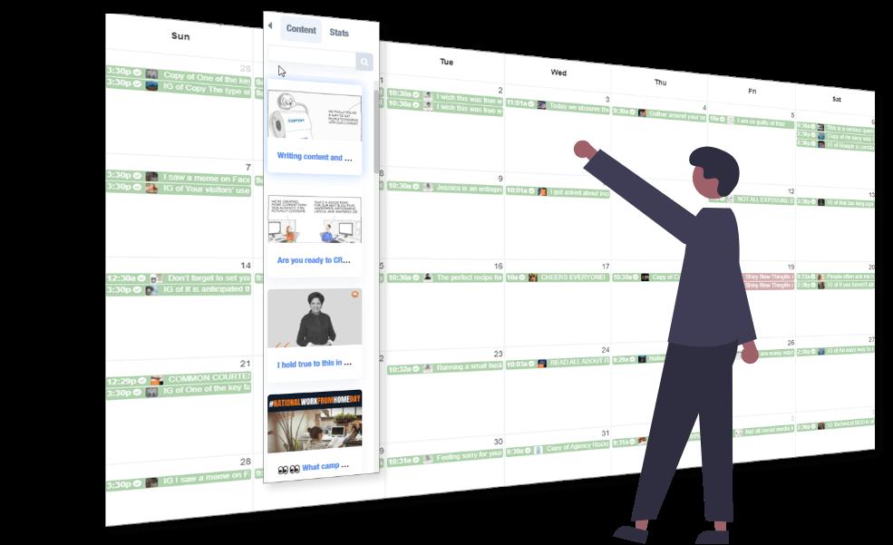 Buzzsocial social media marketing graphic calendar scheduling