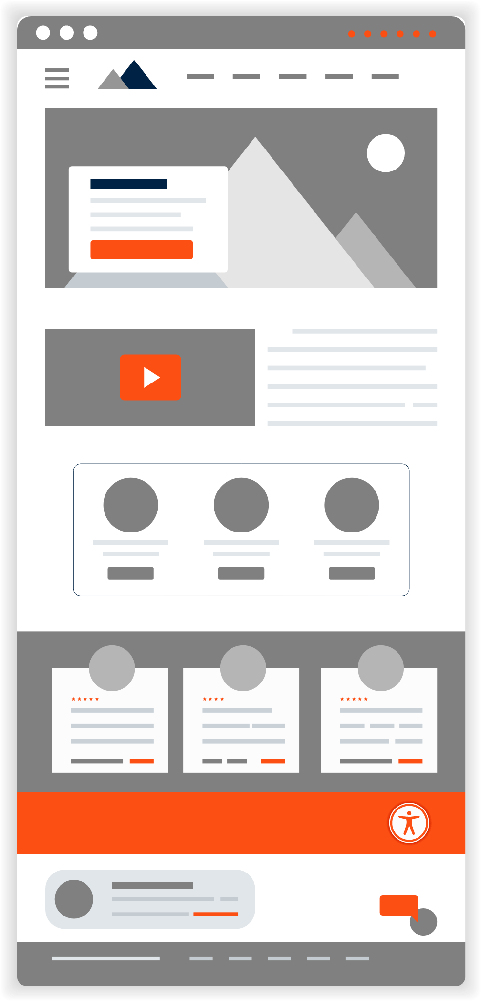 Buzzworthy website design page graphic