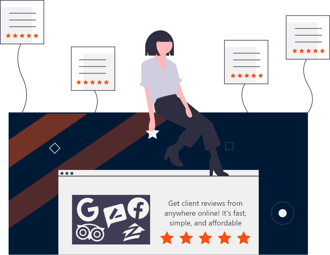 Buzzworthy reputation management graphic