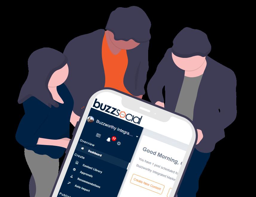 Buzzsocial social media marketing graphic