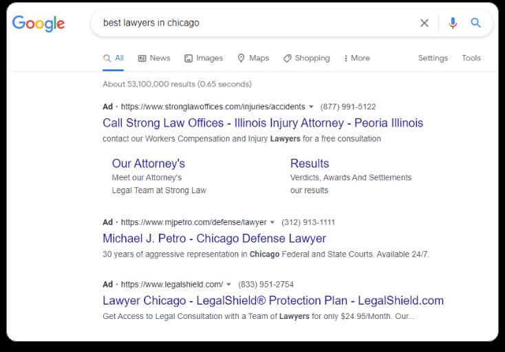 Buzzworthy Search Engine Marketing graphic - lawyers